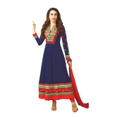 Craftsvilla Blue Color Georgette Embroidered Circular Unstitched Anarkali Suit