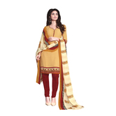 Craftsvilla Yellow Color Crepe Printed Unstitched Straight Suit