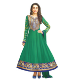 Craftsvilla Green Color Georgette Embroidered Circular Unstitched Anarkali Suit