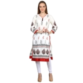 Anuswara White Color With Beautiful Printed 3/4 Sleeve Kurti