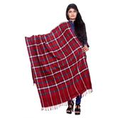 Anuswara Red Color Printed Woolen Winter Shawl