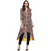 Craftsvilla Black Color Printed Rayon Kurta With Legging Set