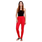 Anuswara Red Color Cotton Full-length Readymade Churidar Legging