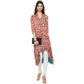 Craftsvilla Red Color Printed Rayon Kurta With Legging Set