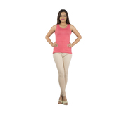 Anuswara Beige Color Cotton Full-length Readymade Churidar Legging