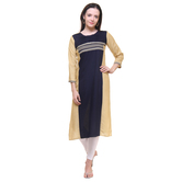 Anuswara Rayon Printed  Blue Color Kurti
