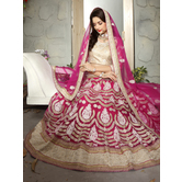 Craftsvilla Pink Color Net Embroidered Semi-stitched A Line Lehenga Choli