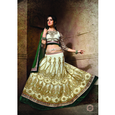 Craftsvilla White Color Embroidered Net Lehenga Choli With Un-stitched Blouse