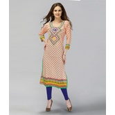 Anuswara Orange Color  Cotton Printed Kurti