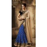 Craftsvilla Blue Color Georgette Embroidered Wedding Lehenga