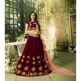 Sutva Maroon Color V...