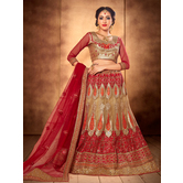 Craftsvilla Terrific Embroidered Net Lehenga Choli With Un-stitched Blouse