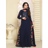 Craftsvilla Blue Color Georgette Embroidered Anarkali Suit