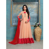 Craftsvilla Pink Color Georgette Embroidered Anarkali Suit