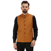Craftsvilla Orange Color Cotton Nehru Style Jacket