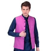 Craftsvilla Pink Color Cotton Nehru Style Jacket