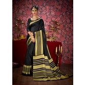 Craftsvilla Black Color Khadi Embellished Designer Saree