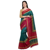 Craftsvilla Green Color Bhagalpuri Silk Embellished Designer Saree