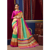 Craftsvilla Gold Color Bhagalpuri Silk Embellished Designer Saree