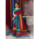 Craftsvilla Red Color Bhagalpuri Silk Embellished Designer Saree