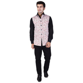 Craftsvilla Multicolor Cotton Chinese Collar Neck Sleeveless Nehru Style Jacket