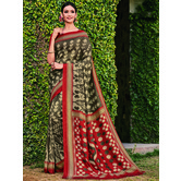 Craftsvilla Beige Color Cotton Silk Contemporary Floral Print  Saree