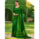 Craftsvilla Green Color Cotton Silk Contemporary Floral Print  Saree