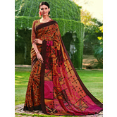 Craftsvilla Multicolor Color Cotton Silk Contemporary Floral Print  Saree