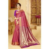Craftsvilla Magenta Color Silk Saree With Butta Work And Unstitched Blouse Material