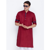 Craftsvilla Maroon Color Cotton Long Sleeves Kurtas