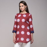 Miraasa Clamp Dyed Polka Dot Embroidered Tunic