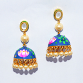 Craftsvilla Gold Plated Fashion Hand Painted Earrings