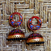 Craftsvilla Gold Plated Brass Traditional Jhumkas Earrings