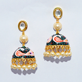 Craftsvilla Gold Plated Designer Hand Painted Earrings