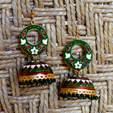 Craftsvilla Gold Plated Brass Casual Jhumkas Earrings