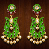 Craftsvilla Gold Plated Brass Hand Painted Jhumka Earrings