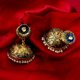 Craftsvilla Gold Plated Brass Traditional Pearls Earrings