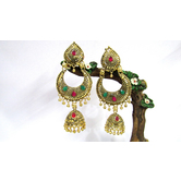 Craftsvilla Oxidized Gold Finish Alloy Metal Hand Crafted Antique Jhumka Earrings