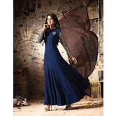 Sutva Blue Color Georgette Embroidered Designer Gown