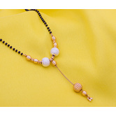 Craftsvilla Gold Plated Pearls Traditional Hand Crafted Mangalsutra