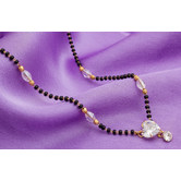 Craftsvilla Yellow Gold Finish Alloy Metal American Diamond Traditional Mangalsutra