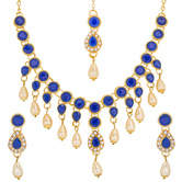 Craftsvilla Single Strand American Diamond Necklace Set With Earrings