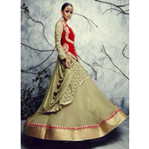 Craftsvilla Red Color Georgette Embroidered Designer Lehenga Choli