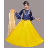 Craftsvilla Yellow Color Lehenga With Crop Top For Girls