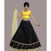 Craftsvilla Black Color Lehenga With Crop Top For Girls