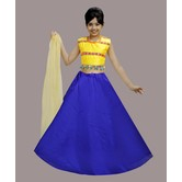 Craftsvilla Blue Color Lehenga With Crop Top For Girls