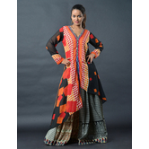 Sutva Multicolor Georgette  Printed Readymade Gown
