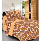 Always Plus Red Check Double Bedsheet (1 Double Bedsheet With 2 Pillow Cover)
