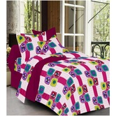 Always Plus Yellow Check Double Bedsheet (1 Double Bedsheet With 2 Pillow Cover)