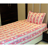 Always Plus Multicolor Cartoon Single Bedsheet (1 Single Bedsheet With 1 Pillow Cover)